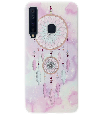 ADEL Siliconen Back Cover Softcase Hoesje voor Samsung Galaxy A9 (2018) - Dromenvanger Roze