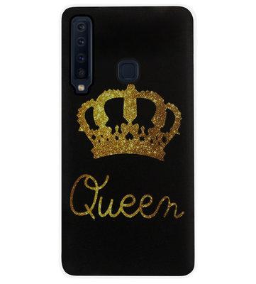 ADEL Siliconen Back Cover Softcase Hoesje voor Samsung Galaxy A9 (2018) - Queen Goud