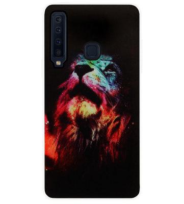 ADEL Siliconen Back Cover Softcase Hoesje voor Samsung Galaxy A9 (2018) - Leeuw Kleur