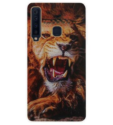 ADEL Siliconen Back Cover Softcase Hoesje voor Samsung Galaxy A9 (2018) - Leeuw Oranje