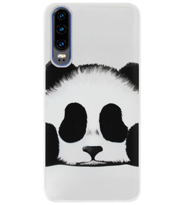 ADEL Siliconen Back Cover Softcase Hoesje voor Huawei P30 - Panda