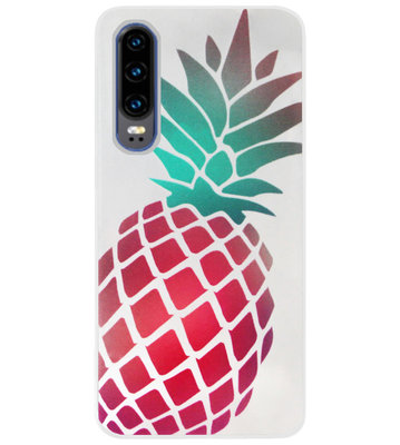 ADEL Siliconen Back Cover Softcase Hoesje voor Huawei P30 - Ananas