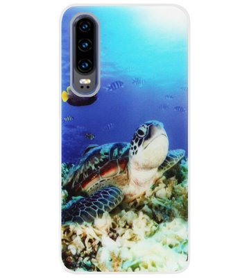 ADEL Siliconen Back Cover Softcase Hoesje voor Huawei P30 - Schildpad
