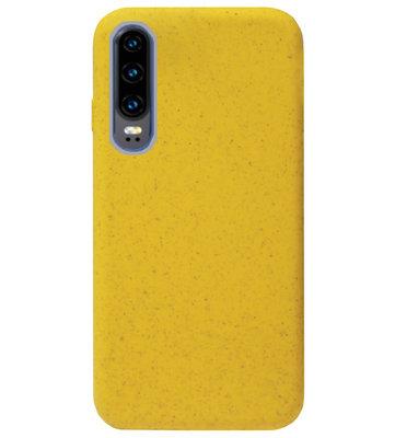 ADEL Tarwe Stro TPU Back Cover Softcase Hoesje voor Huawei P30 - Duurzaam afbreekbaar Milieuvriendelijk Geel