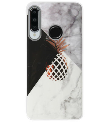 ADEL Siliconen Back Cover Softcase Hoesje voor Huawei P30 Lite - Ananas Goud