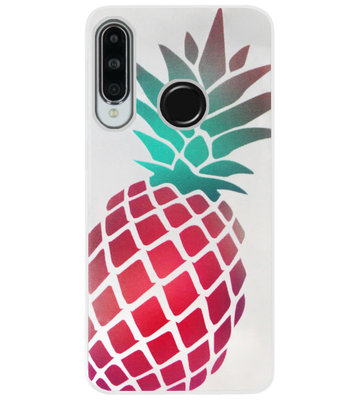 ADEL Siliconen Back Cover Softcase Hoesje voor Huawei P30 Lite - Ananas