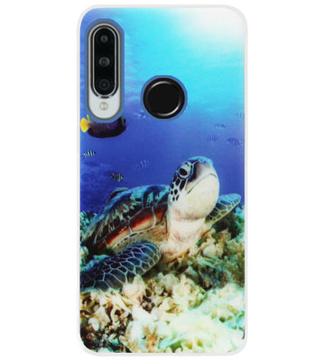 ADEL Siliconen Back Cover Softcase Hoesje voor Huawei P30 Lite - Schildpad