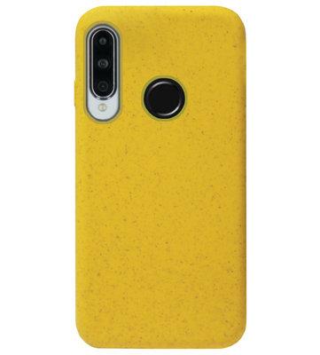ADEL Tarwe Stro TPU Back Cover Softcase Hoesje voor Huawei P30 Lite - Duurzaam afbreekbaar Milieuvriendelijk Geel