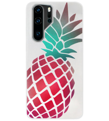 ADEL Siliconen Back Cover Softcase Hoesje voor Huawei P30 Pro - Ananas