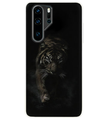 ADEL Siliconen Back Cover Softcase Hoesje voor Huawei P30 Pro - Tijger