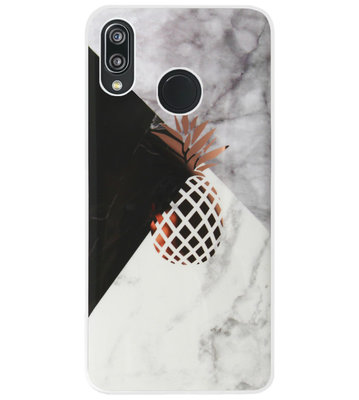 ADEL Siliconen Back Cover Softcase Hoesje voor Huawei P20 Lite (2018) - Ananas Goud