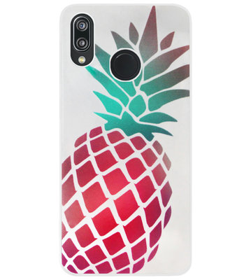 ADEL Siliconen Back Cover Softcase Hoesje voor Huawei P20 Lite (2018) - Ananas