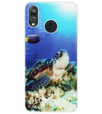 ADEL Siliconen Back Cover Softcase Hoesje voor Huawei P20 Lite (2018) - Schildpad