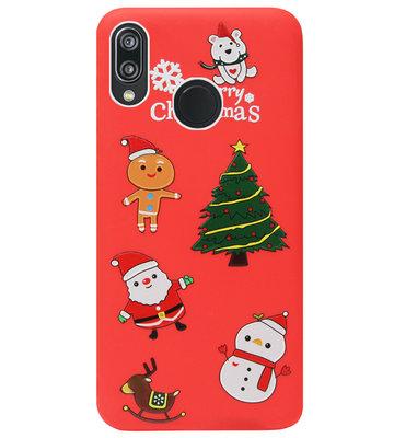 ADEL Siliconen Back Cover Softcase Hoesje voor Huawei P20 Lite (2018) - Kerstmis