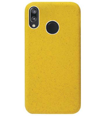 ADEL Tarwe Stro TPU Back Cover Softcase Hoesje voor Huawei P20 Lite (2018) - Duurzaam afbreekbaar Milieuvriendelijk Geel
