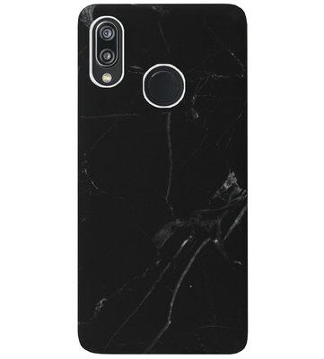 ADEL Kunststof Back Cover Hardcase Hoesje voor Huawei P20 Lite (2018) - Marmer Zwart