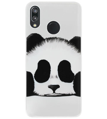 ADEL Siliconen Back Cover Softcase Hoesje voor Huawei P20 Lite (2018) - Panda
