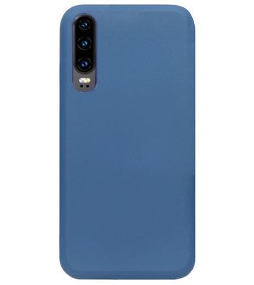 ADEL Premium Siliconen Back Cover Softcase Hoesje voor Huawei P30 - Blauw