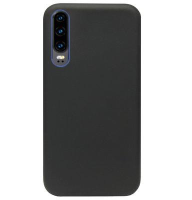 ADEL Premium Siliconen Back Cover Softcase Hoesje voor Huawei P30 - Zwart
