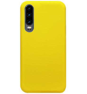ADEL Siliconen Back Cover Softcase Hoesje voor Huawei P30 - Geel