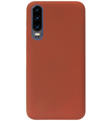 ADEL Siliconen Back Cover Softcase Hoesje voor Huawei P30 - Bruin