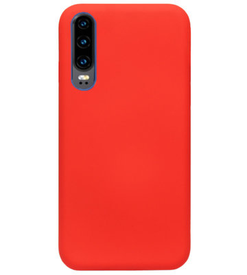 ADEL Siliconen Back Cover Softcase Hoesje voor Huawei P30 - Rood