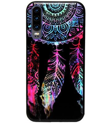ADEL Siliconen Back Cover Softcase Hoesje voor Huawei P30 - Dromenvanger Kleur
