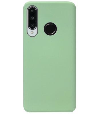 ADEL Premium Siliconen Back Cover Softcase Hoesje voor Huawei P30 Lite - Lichtgroen