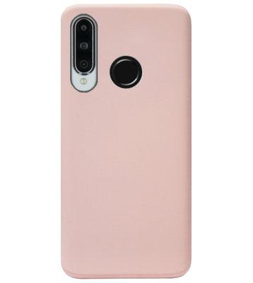 ADEL Premium Siliconen Back Cover Softcase Hoesje voor Huawei P30 Lite - Lichtroze