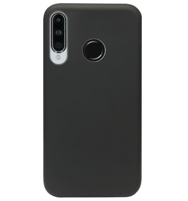 ADEL Premium Siliconen Back Cover Softcase Hoesje voor Huawei P30 Lite - Zwart