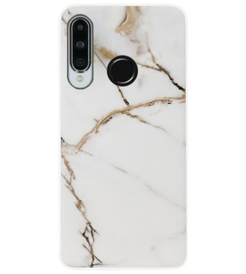 ADEL Siliconen Back Cover Softcase Hoesje voor Huawei P30 Lite - Marmer Goud