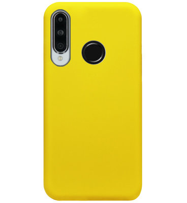 ADEL Siliconen Back Cover Softcase Hoesje voor Huawei P30 Lite - Geel