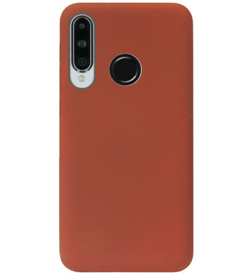 ADEL Siliconen Back Cover Softcase Hoesje voor Huawei P30 Lite - Bruin