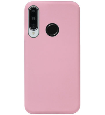 ADEL Siliconen Back Cover Softcase Hoesje voor Huawei P30 Lite - Roze