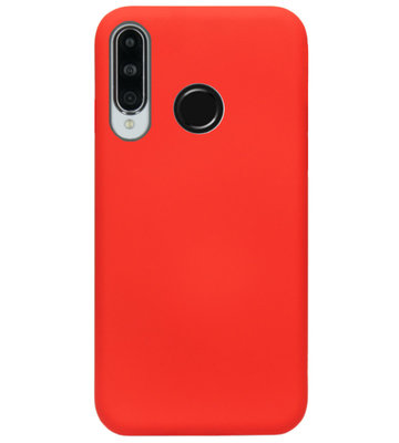 ADEL Siliconen Back Cover Softcase Hoesje voor Huawei P30 Lite - Rood