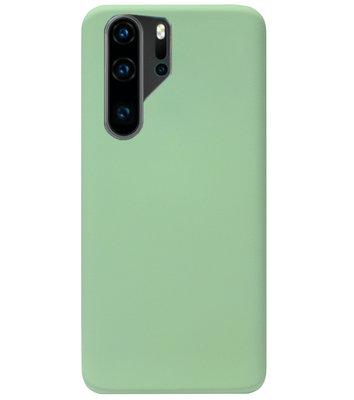ADEL Premium Siliconen Back Cover Softcase Hoesje voor Huawei P30 Pro - Lichtgroen