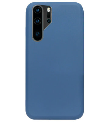 ADEL Premium Siliconen Back Cover Softcase Hoesje voor Huawei P30 Pro - Blauw