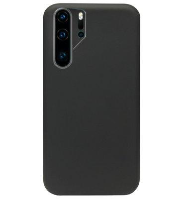 ADEL Premium Siliconen Back Cover Softcase Hoesje voor Huawei P30 Pro - Zwart