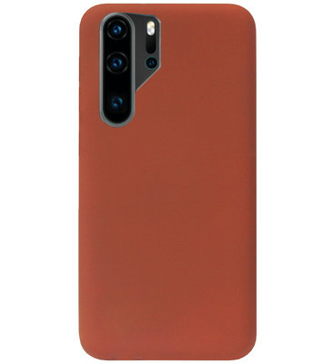 ADEL Siliconen Back Cover Softcase Hoesje voor Huawei P30 Pro - Bruin