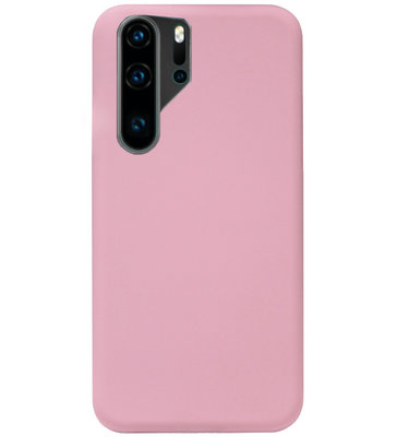 ADEL Siliconen Back Cover Softcase Hoesje voor Huawei P30 Pro - Roze