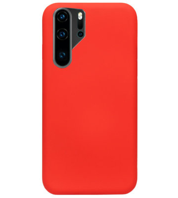 ADEL Siliconen Back Cover Softcase Hoesje voor Huawei P30 Pro - Rood