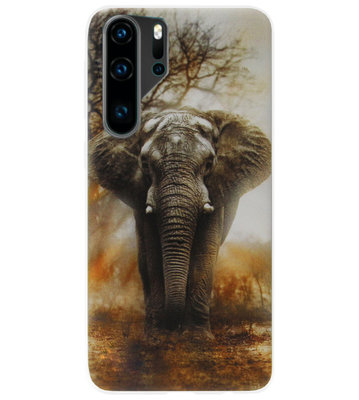 ADEL Siliconen Back Cover Softcase Hoesje voor Huawei P30 Pro - Olifant