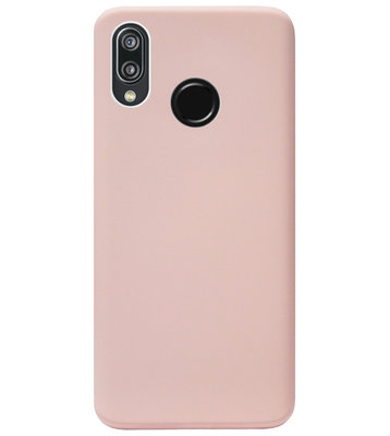 ADEL Premium Siliconen Back Cover Softcase Hoesje voor Huawei P20 Lite (2018) - Lichtroze
