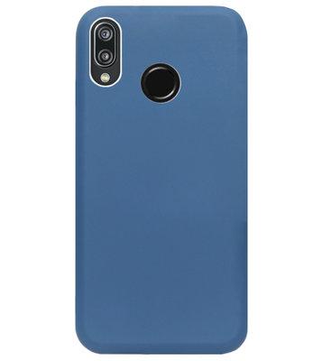 ADEL Premium Siliconen Back Cover Softcase Hoesje voor Huawei P20 Lite (2018) - Blauw