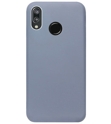 ADEL Premium Siliconen Back Cover Softcase Hoesje voor Huawei P20 Lite (2018) - Lavendel