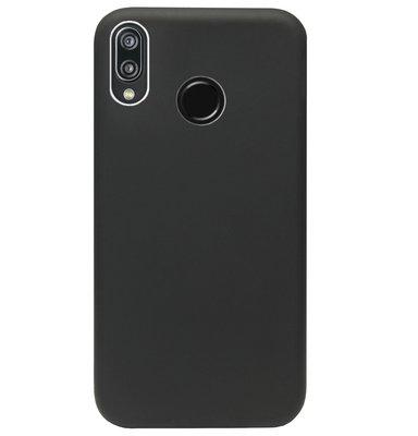 ADEL Premium Siliconen Back Cover Softcase Hoesje voor Huawei P20 Lite (2018) - Zwart