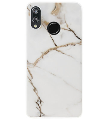 ADEL Siliconen Back Cover Softcase Hoesje voor Huawei P20 Lite (2018) - Marmer Goud