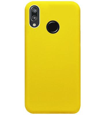ADEL Siliconen Back Cover Softcase Hoesje voor Huawei P20 Lite (2018) - Geel