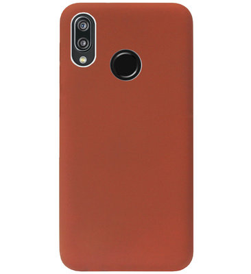 ADEL Siliconen Back Cover Softcase Hoesje voor Huawei P20 Lite (2018) - Bruin