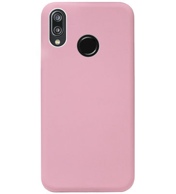 ADEL Siliconen Back Cover Softcase Hoesje voor Huawei P20 Lite (2018) - Roze